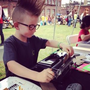 punk kid typist